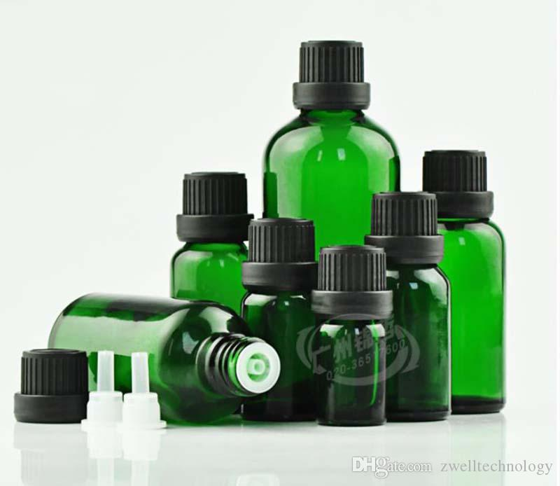 20ml Essential oil bottle Anti theft black head Transparent Glass Empty Bottle Amber/Green/Blue/Transparent