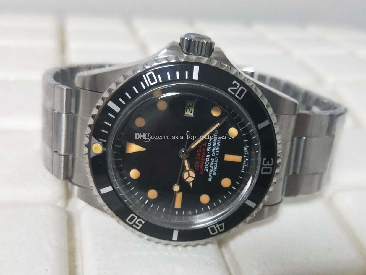 نسخة العتيقة أفضل نسخة 1665 SEA Watch BP Factory product 40mm Black Dial Ceramic Best Quality Asia 2813 Movement Automatic Mens Watch