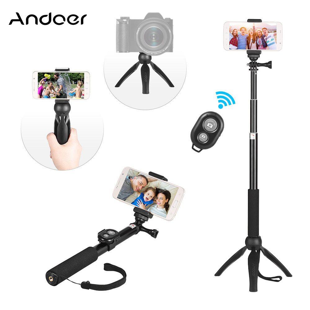Trípode Selfie Stick para teléfono Soporte de trípode extensible para cámara DSLR Mini Selfie Trípode Monopod para GoPro con control remoto