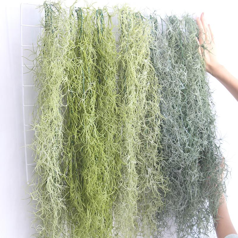 4Pcs/lot Artificial Vine 91cm Air Plant Grass Leaf wedding Hanging Wall Backdrop Greenery For Garden Plastic Hanging vines Fake Plants
