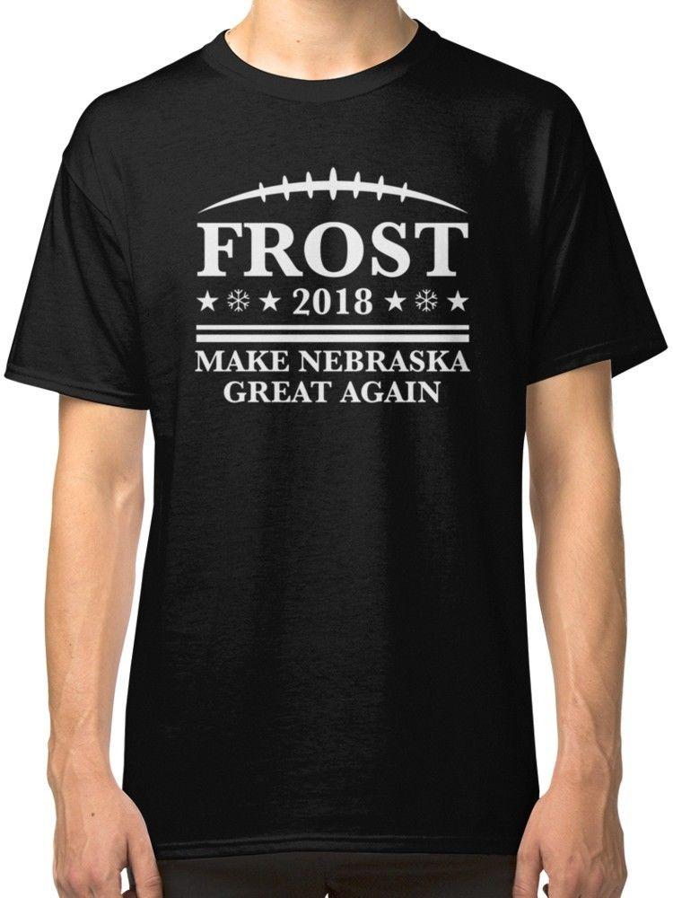 Funniest T-shirts Ever Crew Neck manga corta Frost 18 - Hacer Nebraska Great Again Compression T Shirts para hombres
