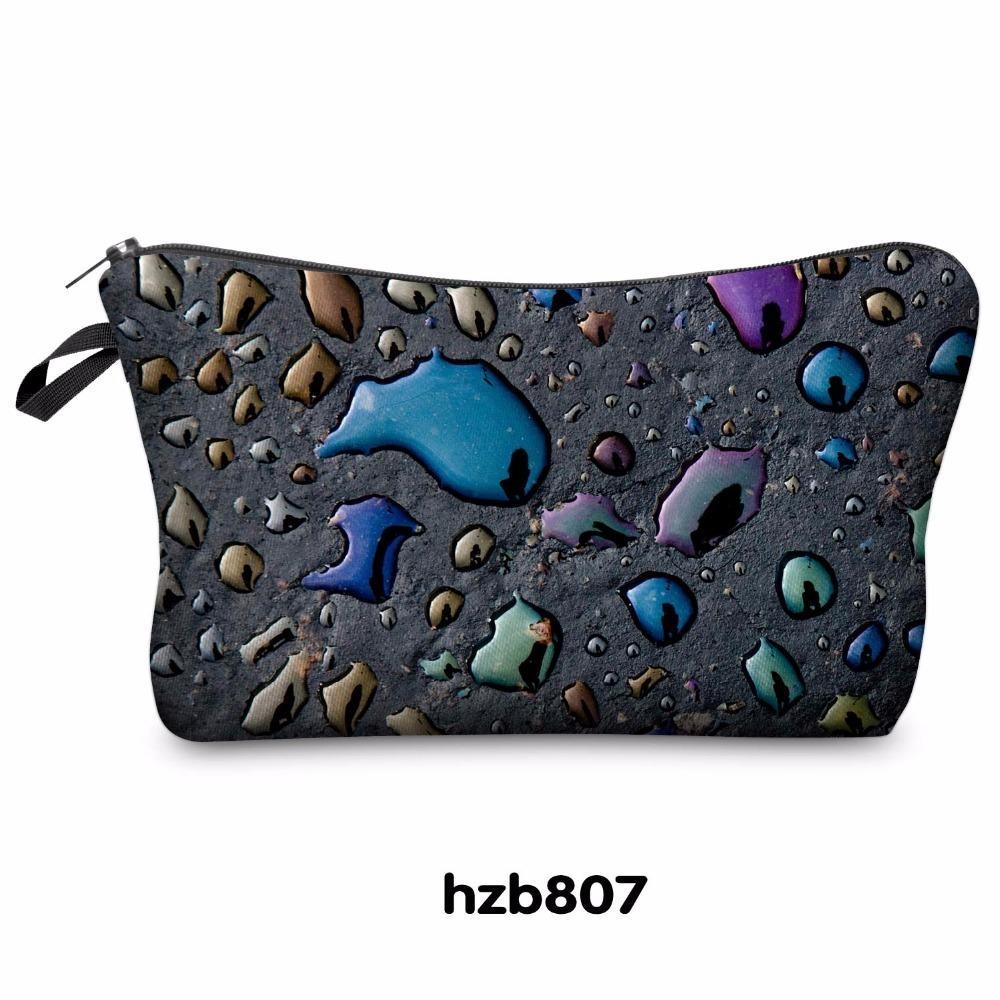 3D حقائب ماكياج الطباعة متعدد الألوان نمط لطيف مستحضرات التجميل الحقائب للسيدات السيدات الحقيبة المرأة حقيبة مستحضرات التجميل التخزين