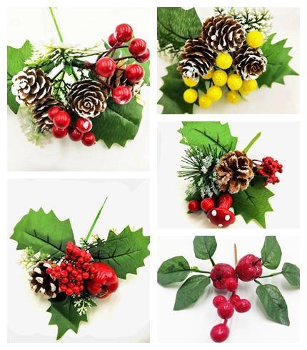 5 أسلوب 1 قطعة الزهور الاصطناعية التوت الأحمر فرع مناسبة لعيد الزهور المجففة زفاف عيد الميلاد الديكور DIY عيد الحب