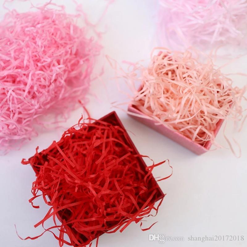 20g Kağıt Shred Craft Rendelenmiş Buruşuk Kağıt Konfeti DIY Kuru Saman Mevcut Hediyeler Kutu Dolgu Malzemesi Düğün / Doğum Günü Partisi Dekor