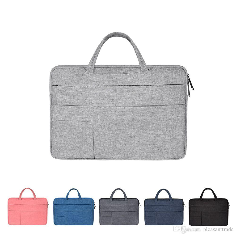 Portable Notebook Bag Laptop Handbag For Macbook Air Pro Lenovo ASUS Sony 11 12 13 14 15 Inch Travel Briefcase Bussiness Bag