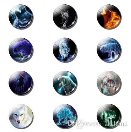 12 unids World of Wolves Glass Fridge Magnets Sets 25 MM Lobo de Cristal Animales Lindos Magnética Refrigerador Frigorífico Memo Decoración