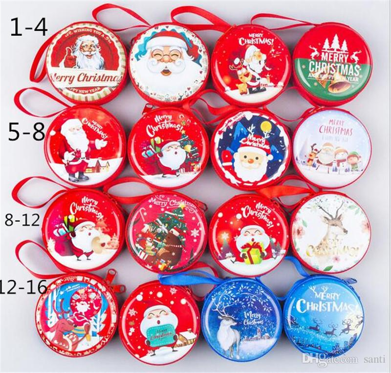 البسيطة تين مربع مختومة جرة علب تخزين صغيرة الباروك للطفل التعبئة عيد الميلاد مربع حلوى عيد الميلاد عملة أقراط سماعات علبة هدية