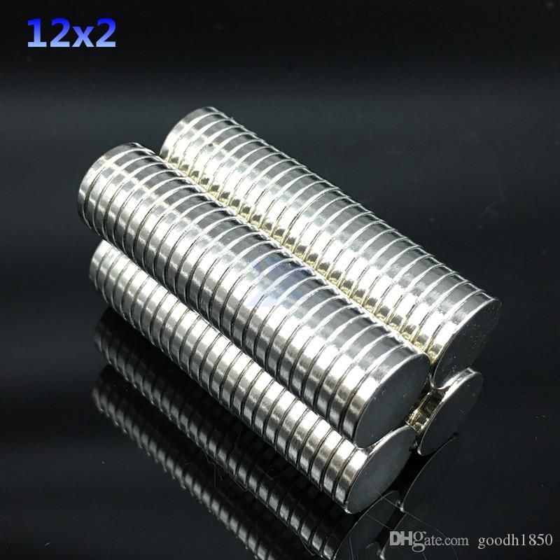 50pcs 12x2mm 슈퍼 강한 자석 12X2 mm 라운드 디스크 희토류 네오디뮴 자석 12 * 2mm NEW Art Craft 연결 냉장고 자석
