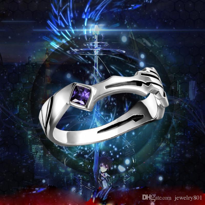 Аниме виновен Корона меч кольцо 925 серебро Рождество Новый год подарок Хэллоуин косплей мультфильм кольцо Рождественский подарок США размер 9 кольцо