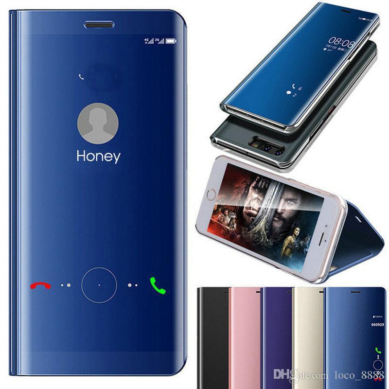 Smart Mirror en cuir pour Huawei P40 Pro Lite E 5G P30 Pro Lite P P20 Smart Nova 5T Maté 30Pro 30 20PRO 20 Lite Y5P Y6p 2020 Clear Case