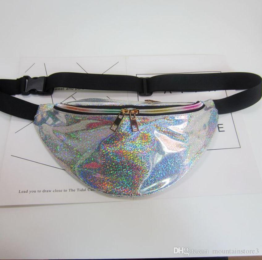 New Holographic Fanny Pack Laser Waist Packs Heuptas Hip Bag Women's Waistband Banana Bags Waist bag Unisex bolso cintura -r