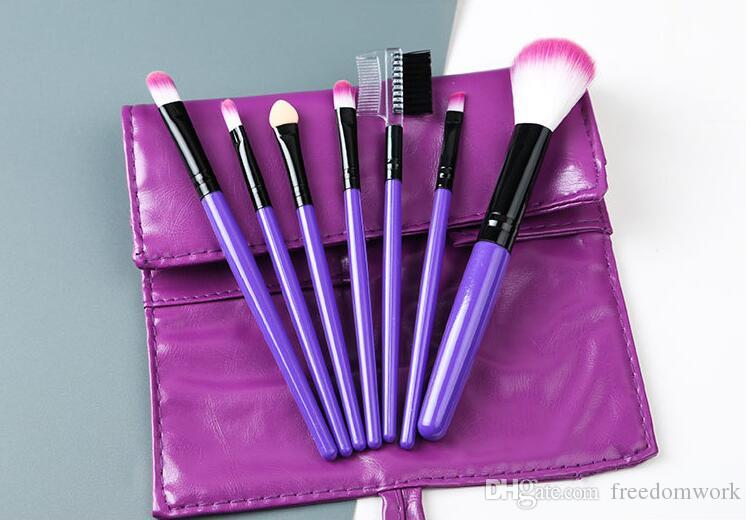 Макияж для вас профессиональный 7 шт. кисти для макияжа Кисти набор инструментов макияж туалетных комплект шерсть Марка макияж кисти установить дело PY