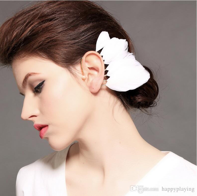 Feenhafte Federfeder der neuen Frisur fee hängende weibliche Persönlichkeitsgezeitenleute der Art und Weisereise-Fotoübertreibung Ohrringe SP-0033