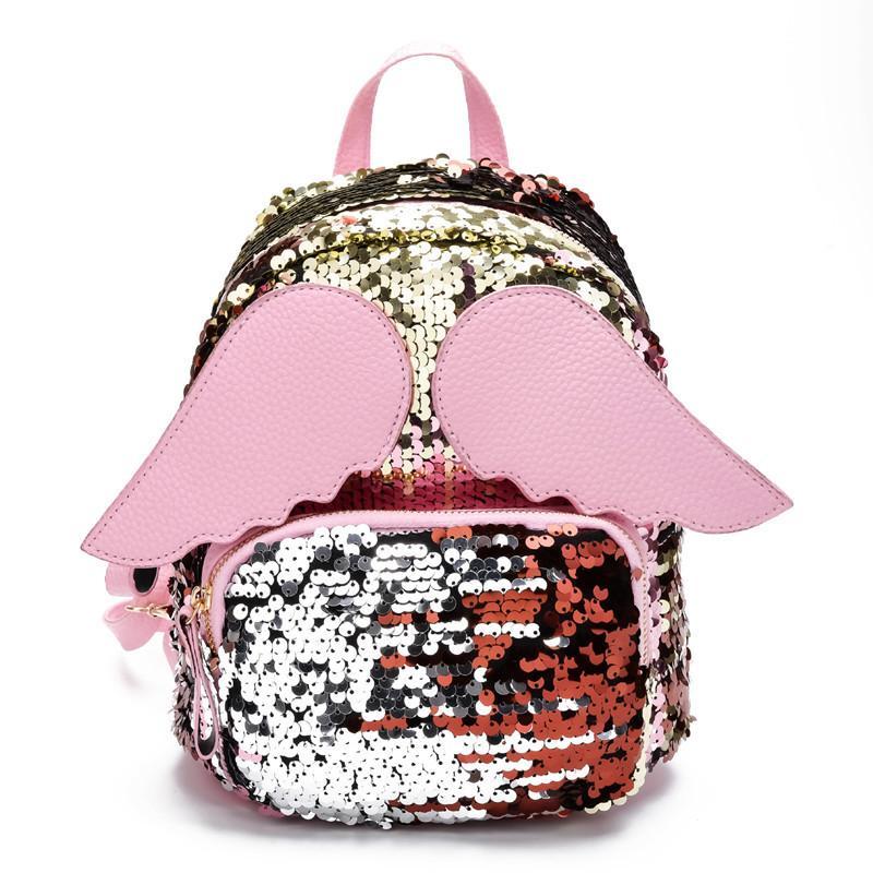 New 3D Girl school bags small hologram bag Shoulder sequins laser sparkle children backpack girl backpack female mochila escolar Y18100704