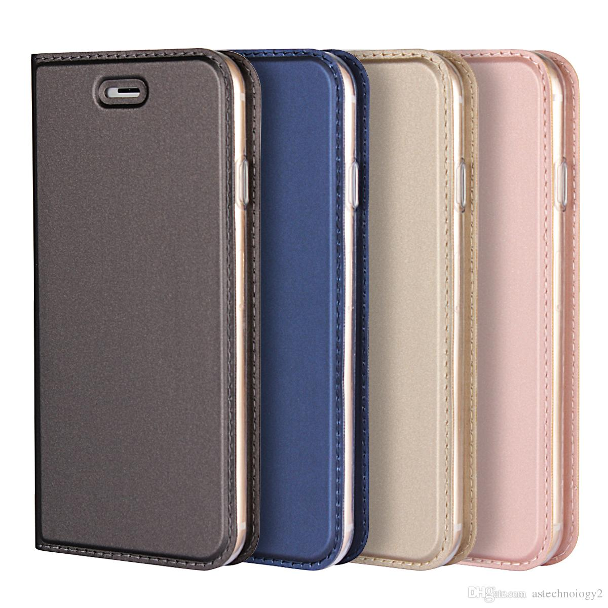 factory price 65e30 71111 Luxury Leather Case For Samsung Galaxy S8 PLUS Cell Phone Case Slim Wallet  Credit Card Slot Stand Cover Retail Packages For Iphone 7 Plus Cell Phone  ...