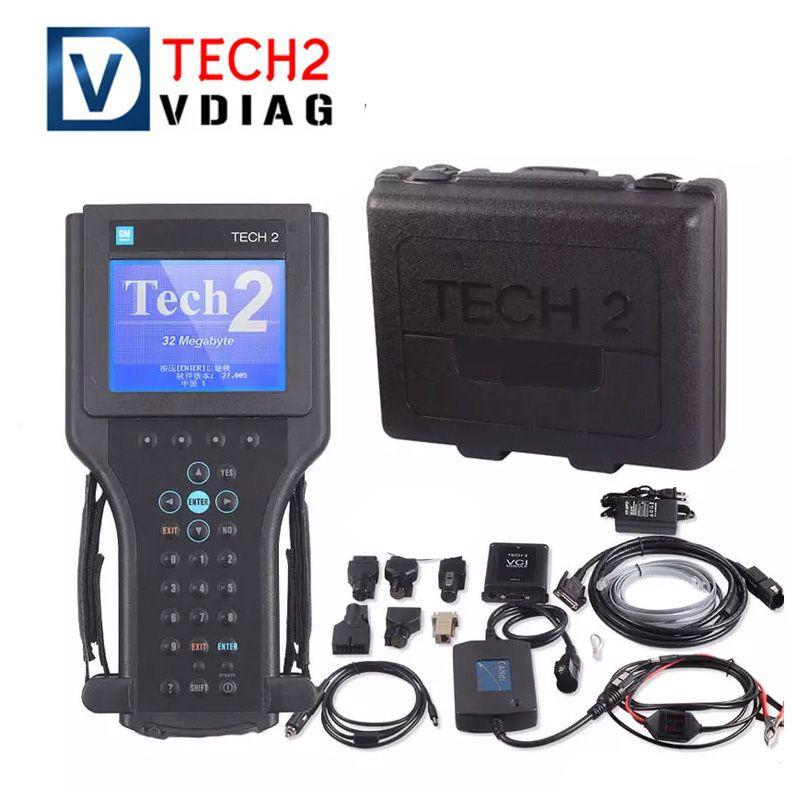 Pour le scanner GM TECH2 Outil de diagnostic complet Pour Vetronix gm tech 2 avec interface candi gm tech2 avec boîte livraison gratuite