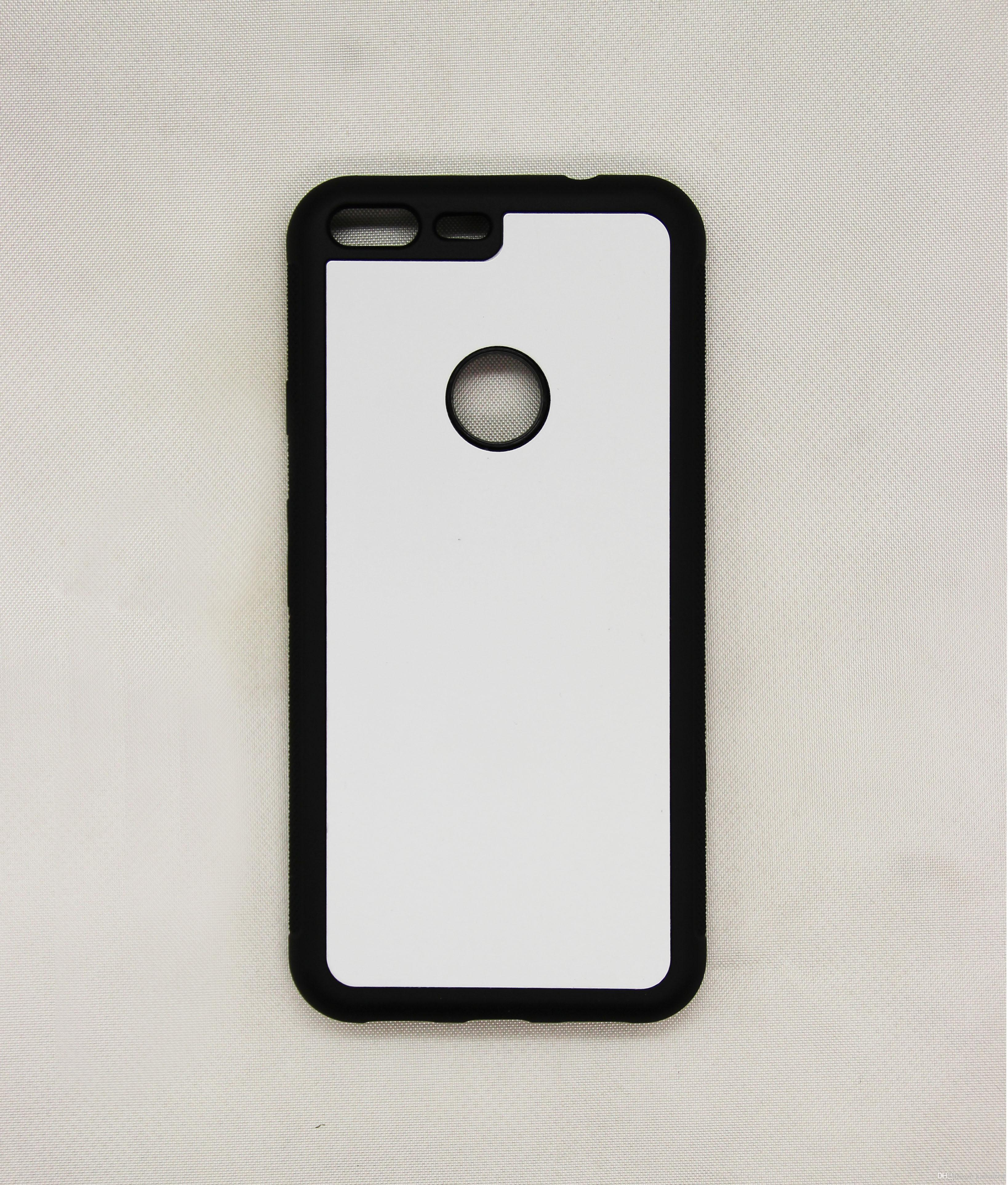 2D 승화 실리콘 케이스 HTC Goolge 픽셀 / 픽셀 XL / 10 EVO / 볼트 / M8 / M9 TPU + PC 고무 부드러운 빈 열전달 전화 커버