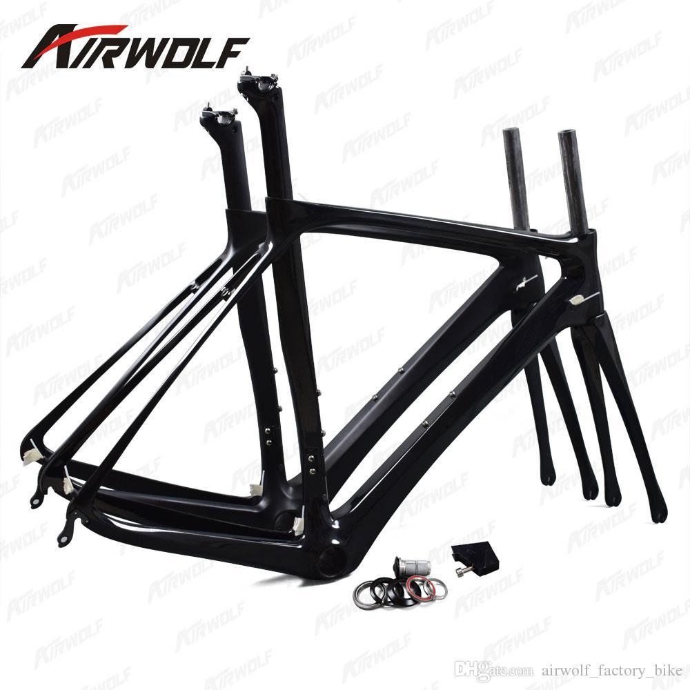 Airwolf carbon road frame 2017 BB386 frame road carbon china 700c UD black carbon bike frames