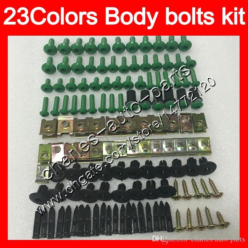 البراغي Fleating Bolts Full Screw Kit لسوزوكي GSXR1300 Hayabusa GSXR 1300 96 2002 2003 2004 2005 2005 2007 الجسم المكسرات مسامير الجوز بولت كيت 25 ألوان