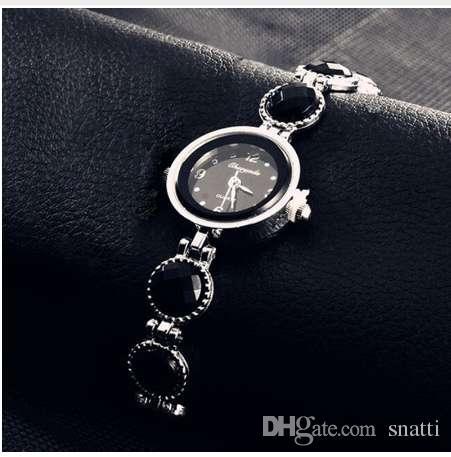 Reloj de Pulsera de las mujeres Moda Casual Pan Reloj de Cuarzo Relojes Dial redondo Reloj de pulsera Femenino Relogio Feminino polshorloge