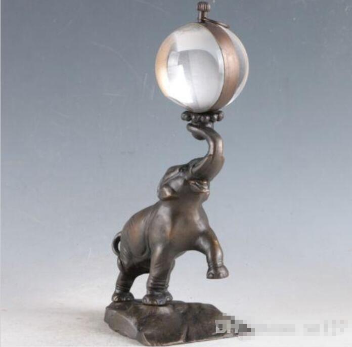 Großhandel - Europäische Exquisite Messing Klassische Mechanische Elefantenuhr