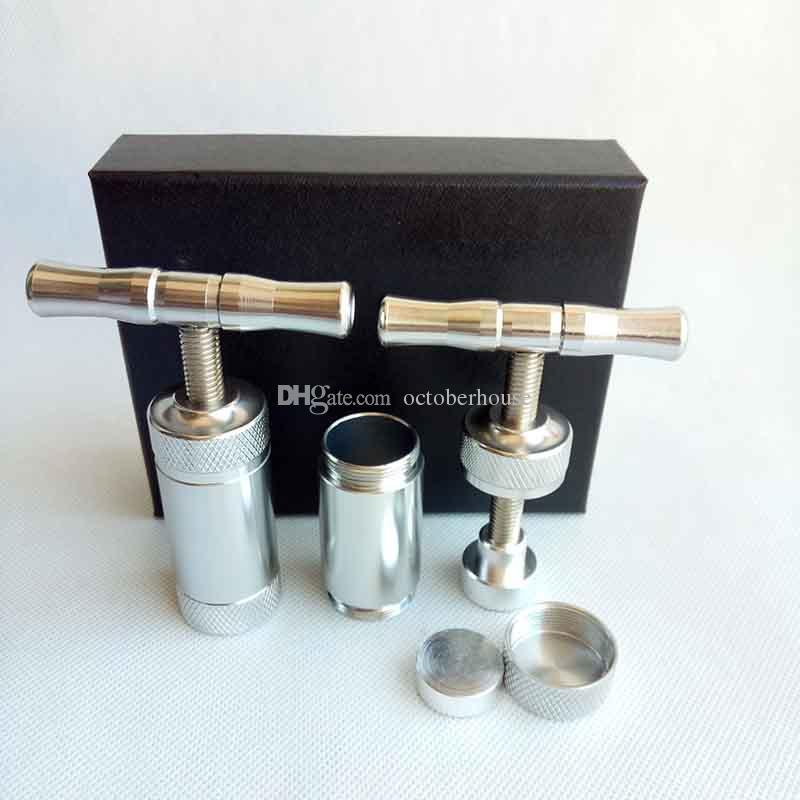 금속 꽃가루 압축기 압축기 크림 흡연 액세서리 도구 허브 담배 담뱃대 버블 러 왁스 드라이 기화기