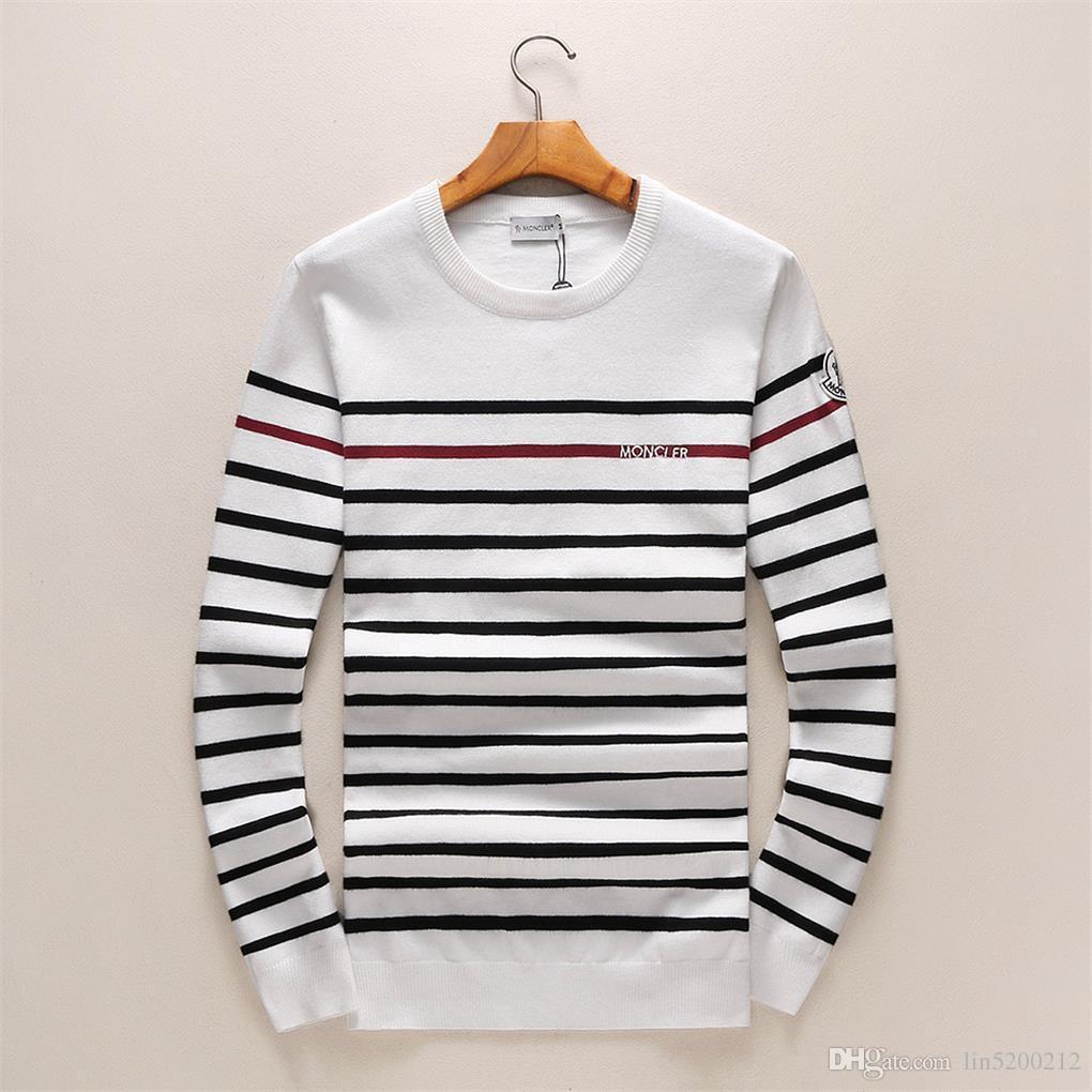 Maglione Pullover uomini con cappuccio manica lunga del progettista di marca Felpa Lettera ricamo Maglieria invernale nuovo progettista Mens Abbigliamento-19