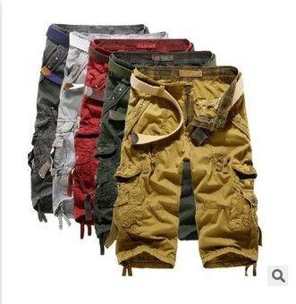 Herren Armee Tarnung 3/4 Cargo Shorts Hose Muster Capri Hosen Bermudas 1801ZYAA1542