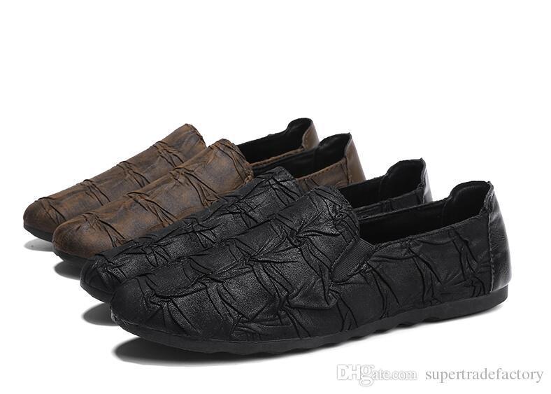 Chaussures habillées pour hommes élégantes Mocassins à la mode italienne Mocassins en cuir souple Mocassins Gommino