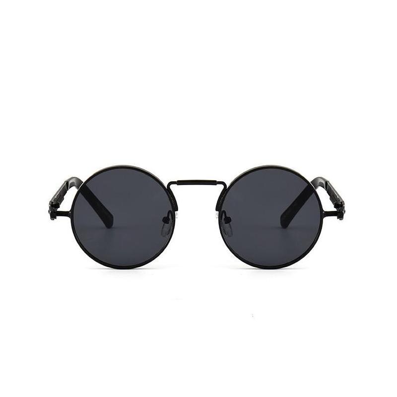 Vintage Polarized Steampunk Sunglasses Mens Design Round Summer Sunglasses UV400