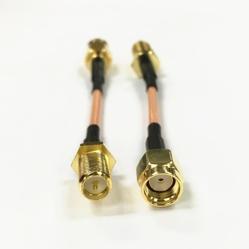 RG316 SMA Male to Female Nut RF Coax Lead Jumper Pigitail Cable Connectors 50 Ω