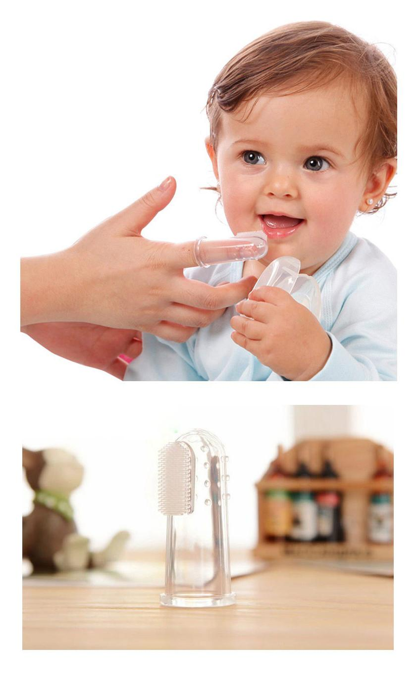 Baby Finger Toothbrush Teeth Infant Toolder Gum Massager one