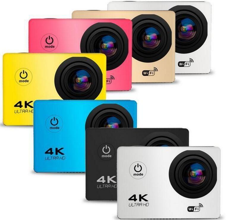 """4K الرياضة كاميرا HD العمل 2 """"WIFI الغوص 30 متر كاميرات مضادة للماء 1080P كامل HD 140 درجة كاميرا كاميرات الرياضة DV سيارة الألوان 2018"""