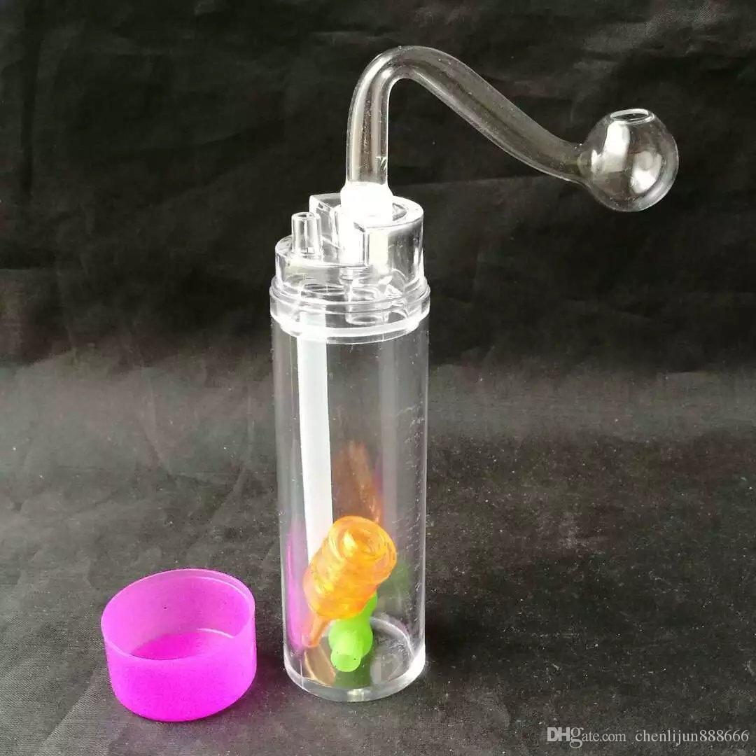 Akrilik su şişesi, Toptan Bongs Yağ Burner Borular Su Boruları Cam Boru Petrol Kuleleri Sigara Ücretsiz Kargo