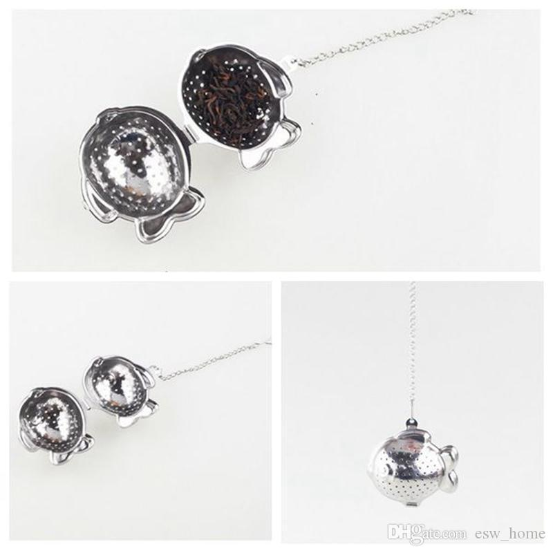 Tea Infuser FISH shaped New creativity 304 Stainless Steel Tea Infuser Strainers Filter Tea Ball free shipping