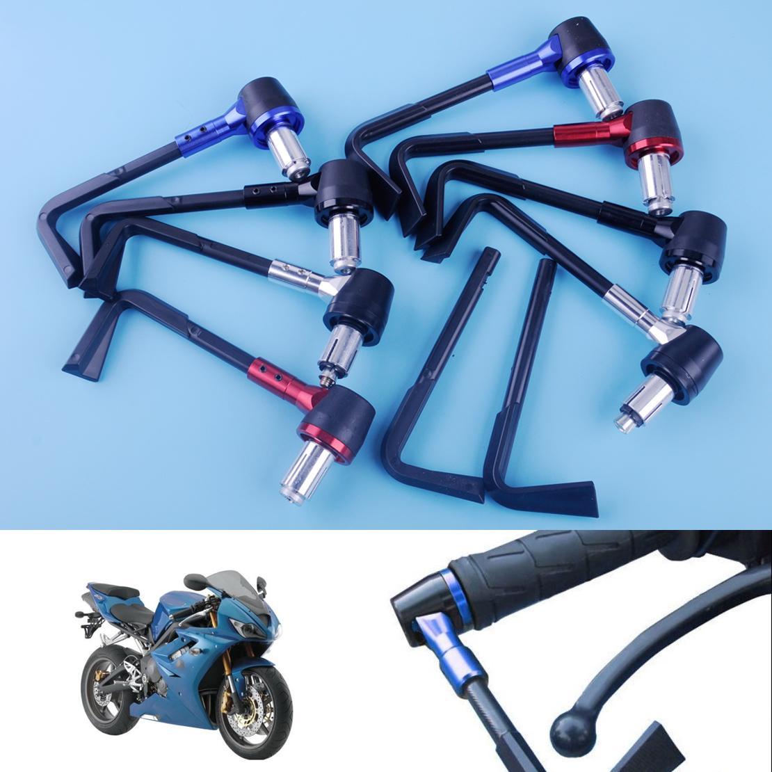 beler 4 stücke Motorrad Fahrrad 22mm 7/8 zoll Bremse Kupplungshebel Schutz Handschutz Verstellbare Lenkergriffe Motorrad