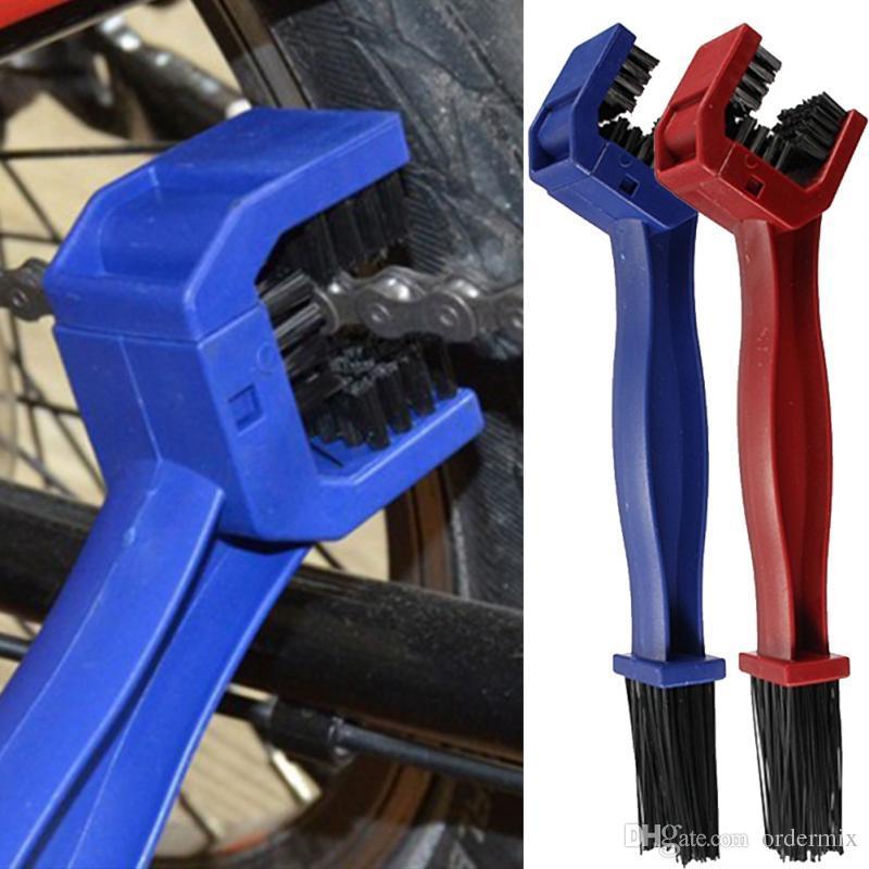 Ciclismo de plástico Cepillo de cadena de la motocicleta Cadena de bicicleta Cadena de engranaje Grunge Limpiador de cepillo Limpiador de lavado de aire libre Accesorios de bicicleta
