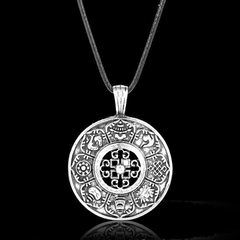 Nordic Viking amulet pendant guardian totem Viking necklace personality hollowed-out symbol wholesale