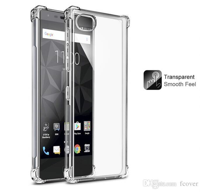 Per BlackBerry Key2 Key 2 Blackberry motion / Blackberry Keyone Case Soft Skin Gel TPU Custodia protettiva in silicone trasparente