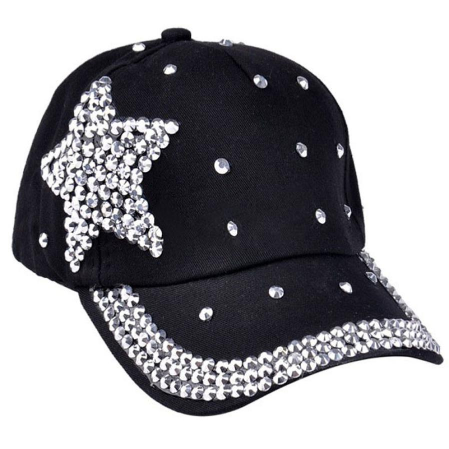 Children Cap For Girls 2016 Fashion women's hats Baseball Cap Rhinestone Star Shaped Boy Girls Snapback Hat 5 Colors hat