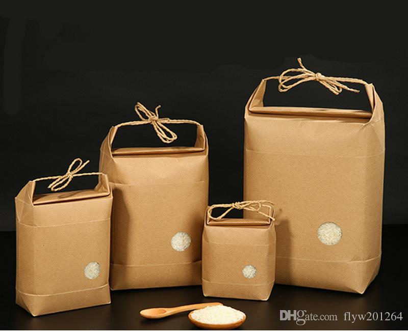 100pcs Yeni ürün pirinç kağıdı ambalaj / Kahve ambalaj torbası / kraft torba Gıda Saklama Daimi Kağıt