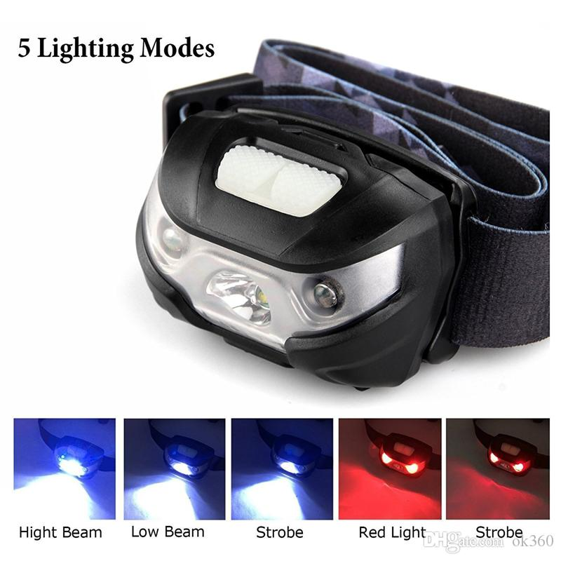 LED Head Torch Blusmart Headlamp Rechargeable USB CREE Headlight Camping UK BSNY