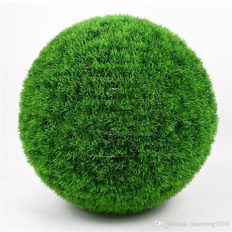 """Dia 25cm / 9.84"""" Artificial Kunststoff grün Kugel Simulation Pine Needles Grass Balls Grünpflanze für Heim Hochzeit hängende Dekoration"""