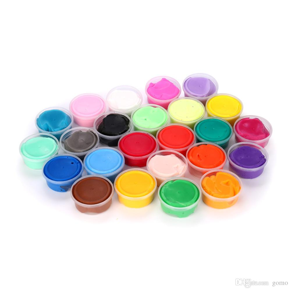 25 COULEURS Slime toys Floam Slime Soulagement du stress parfumé No Borax Kids Toy Sludge Toy Jouets pour enfants PLAY Clay