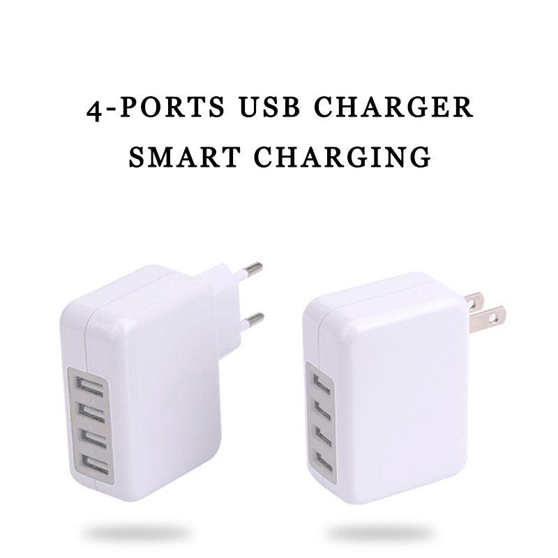 USB зарядное устройство путешествия штекер 15 Вт 3.1 A 4-портовый USB зарядное устройство с США ЕС адаптер для IPhone и Samsung