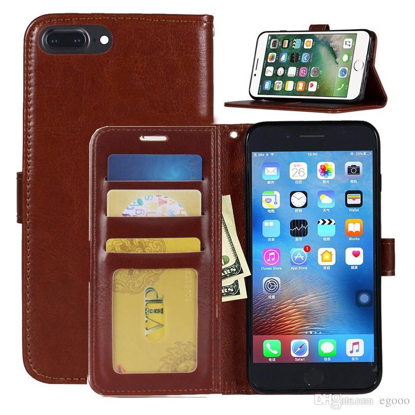 지갑 가죽 케이스 플립 파우치 충격 방지 커버 카드 슬롯 및 사진 프레임 아이폰 X XS 8 7 6 6 초 플러스 Sumsung S7 가장자리 S8 플러스 노트 8