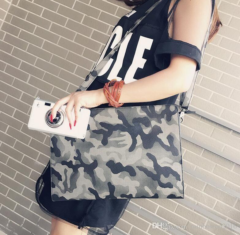 Фабрика Оптовая Марка мода сумка камуфляж конверт Ручная сумка кожа мужчины большой корейский Ручная сумка человек bangalor камуфляж личности