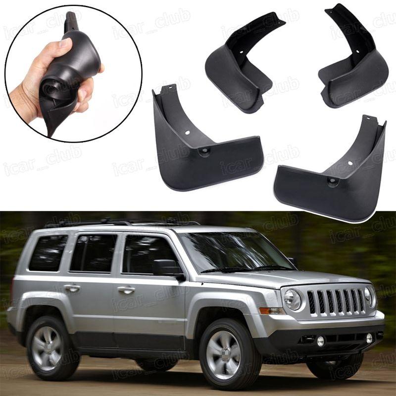 Nuevo 4 unids Car Mud Flaps Splash Guard Fender guardabarros negro apto para Jeep Patriot 2011-2017 SUV