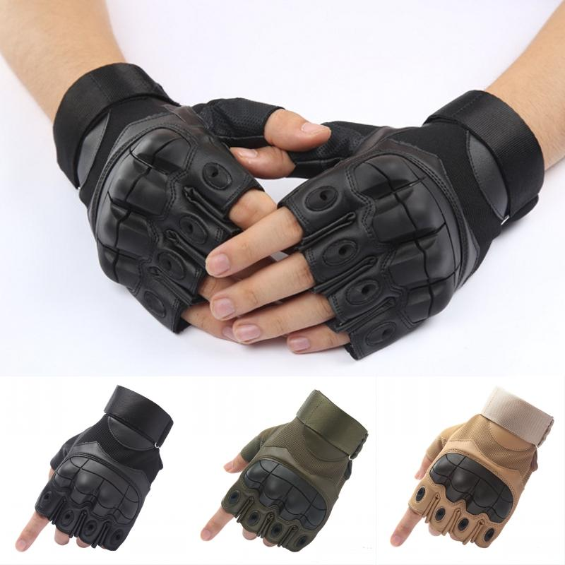 Hot Sale Tactical Gloves Outdoor Half Finger Airsoft Combat Army Gloves Fighting Mitten Men High-end Sport Cycling Antiskid Protective G699F