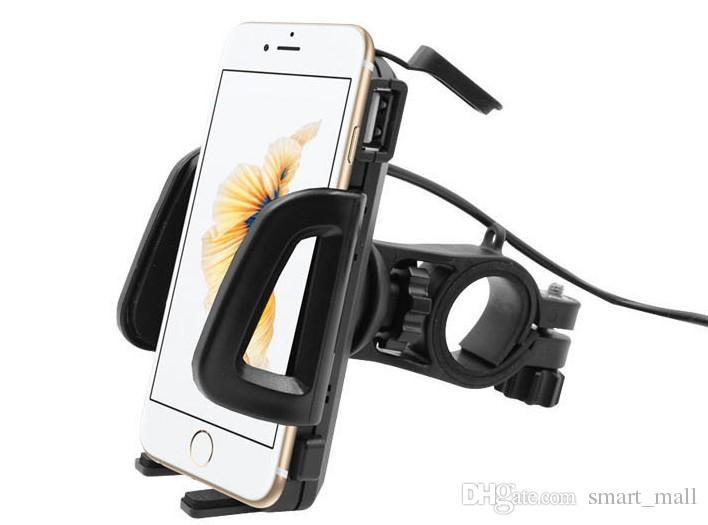 Genérica 2 en 1 impermeable del teléfono celular titular de montaje de la motocicleta con USB Interruptor de alimentación del cargador de 3,3 pies de cable de alimentación LLFA